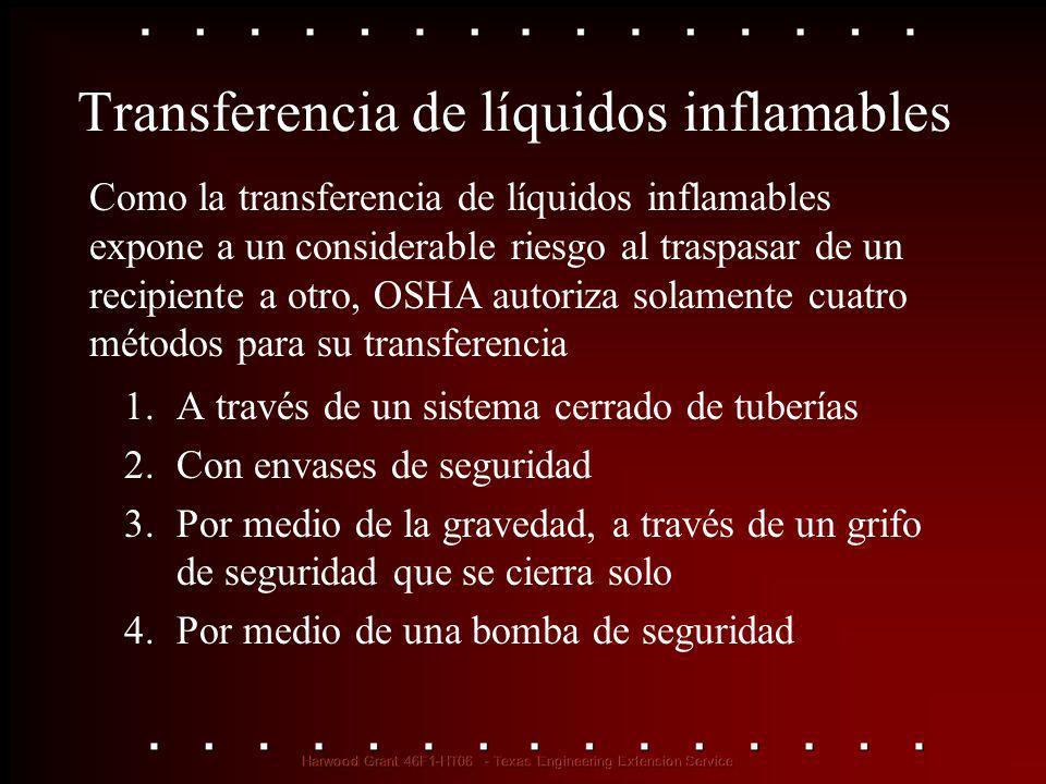 Transferencia de líquidos inflamables