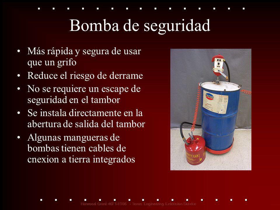 Bomba de seguridad Más rápida y segura de usar que un grifo