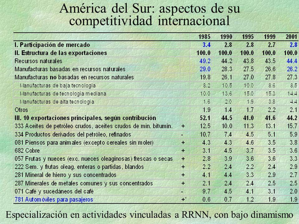 América del Sur: aspectos de su competitividad internacional