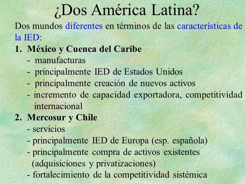 ¿Dos América Latina 1. México y Cuenca del Caribe - manufacturas