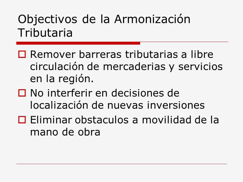 Objectivos de la Armonización Tributaria