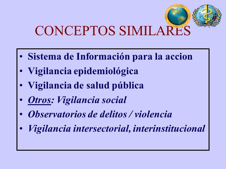 CONCEPTOS SIMILARES Sistema de Información para la accion