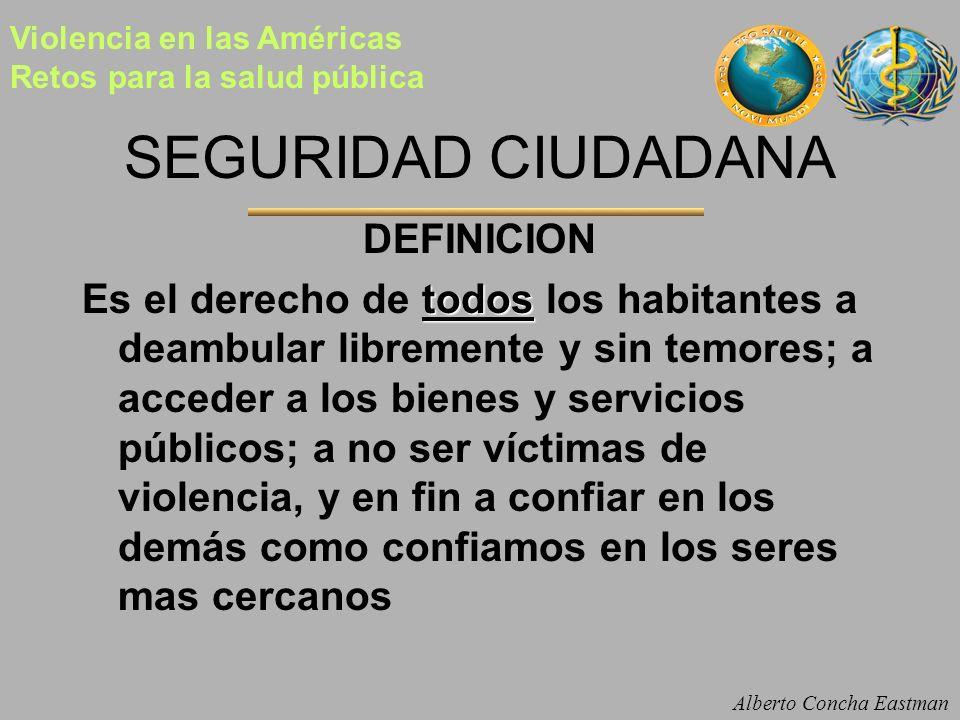 SEGURIDAD CIUDADANA DEFINICION