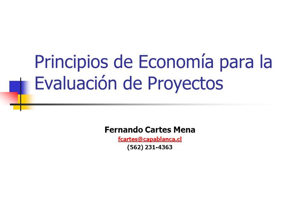 Principios de Economía para la Evaluación de Proyectos