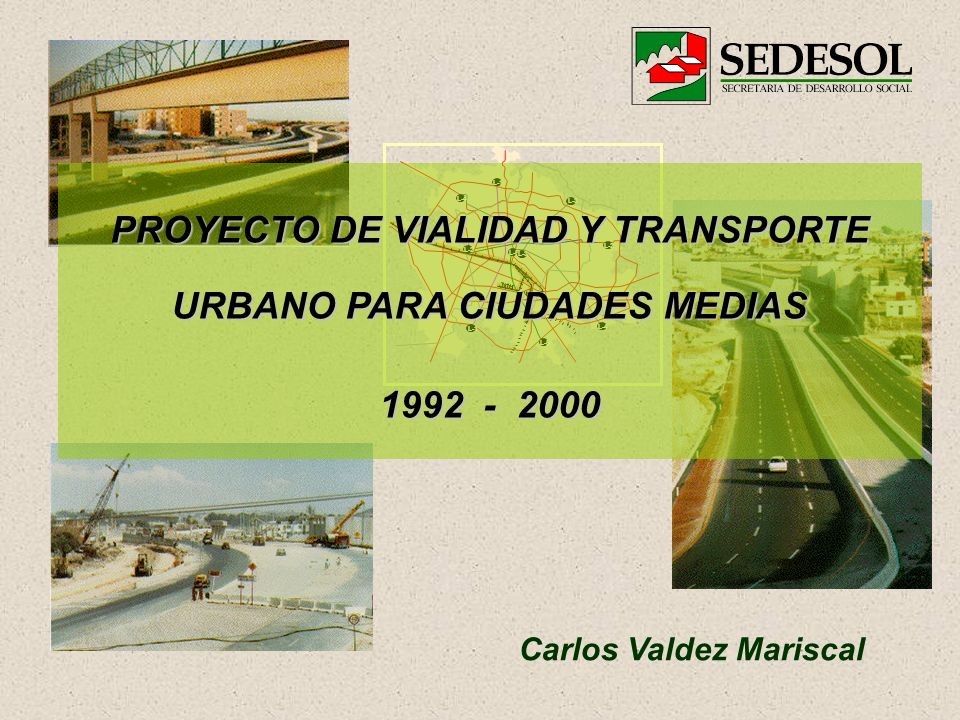 PROYECTO DE VIALIDAD Y TRANSPORTE URBANO PARA CIUDADES MEDIAS
