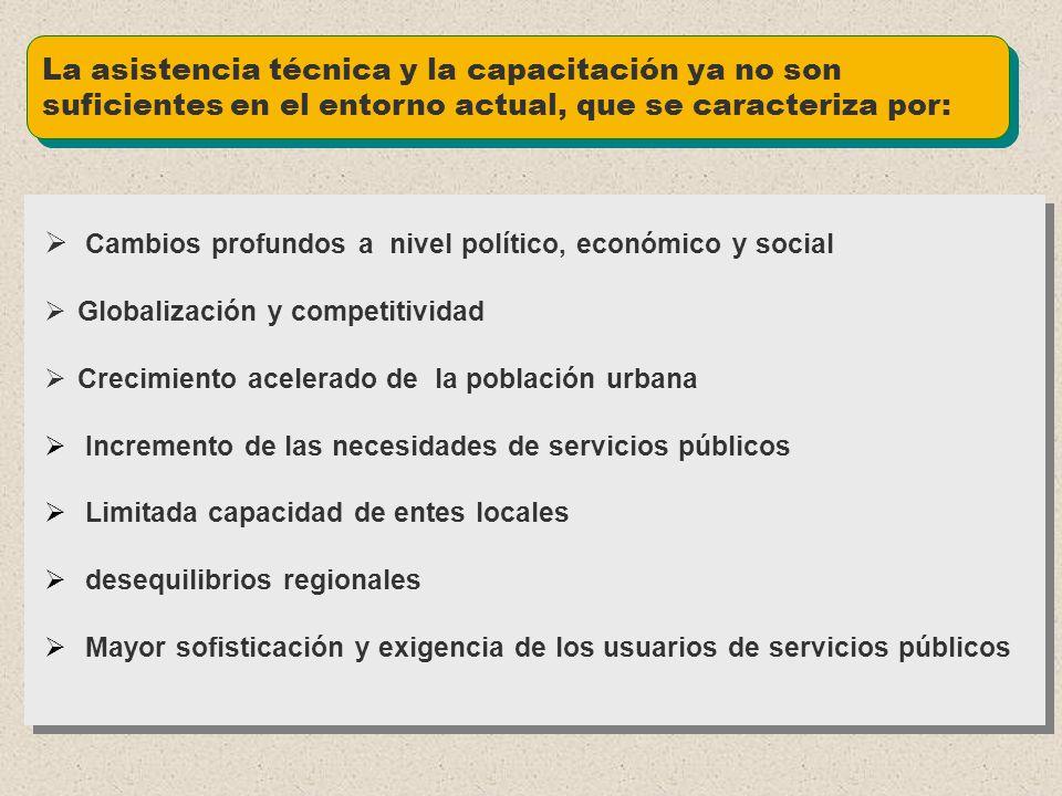 Cambios profundos a nivel político, económico y social