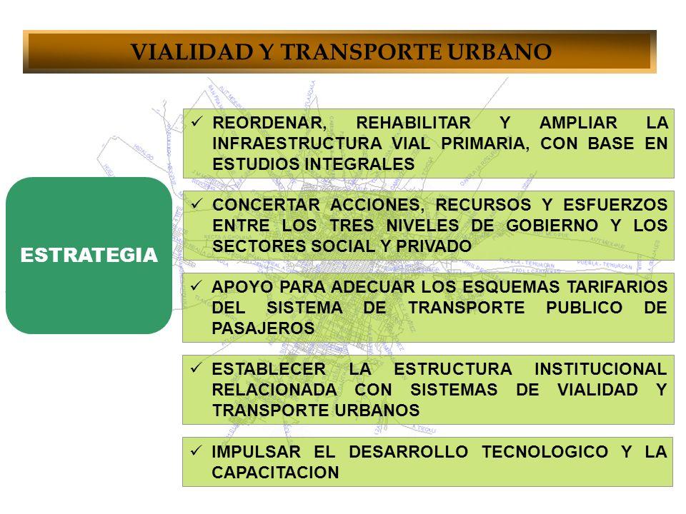 VIALIDAD Y TRANSPORTE URBANO