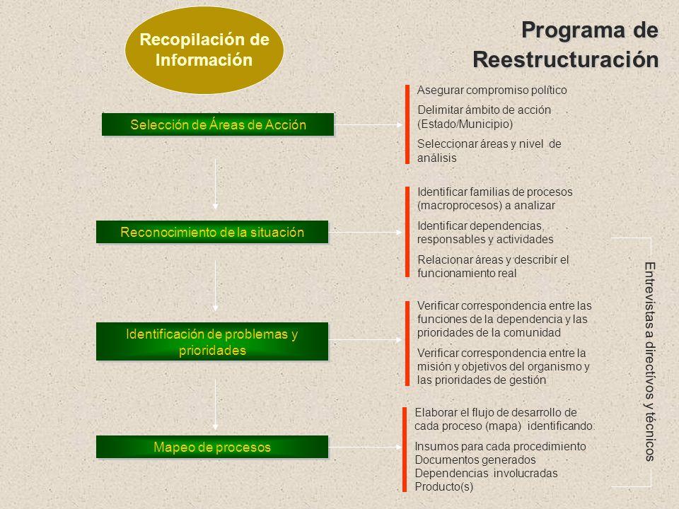 Programa de Reestructuración Recopilación de Información