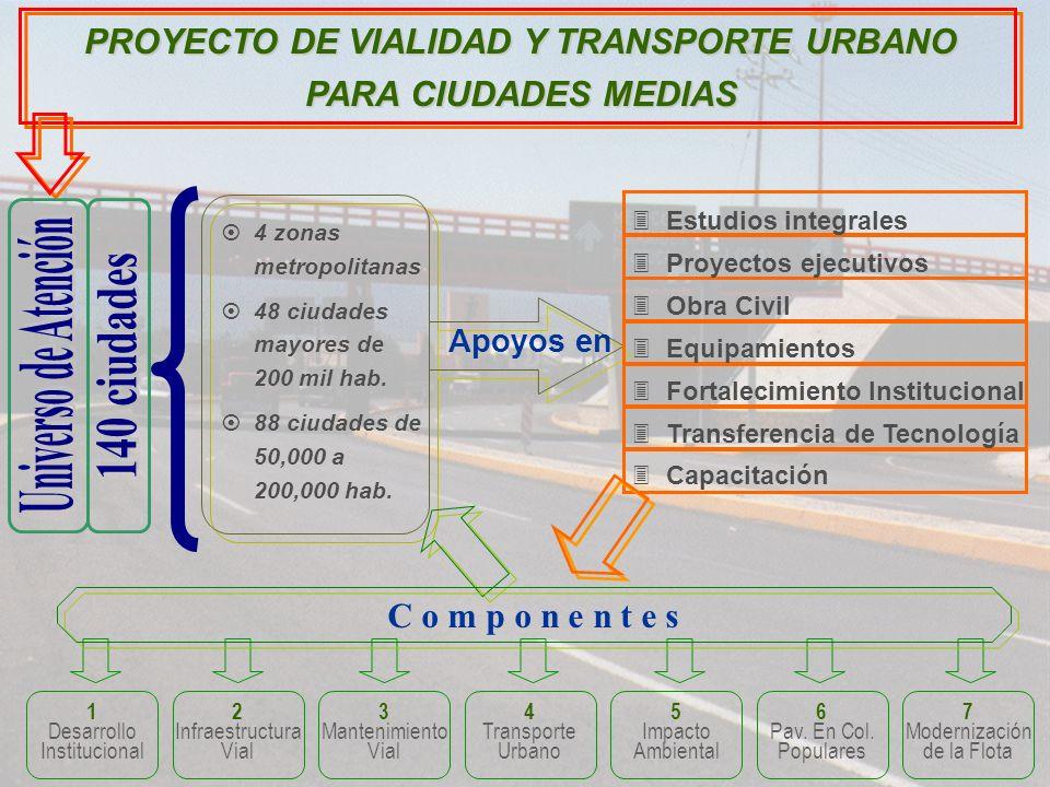 PROYECTO DE VIALIDAD Y TRANSPORTE URBANO