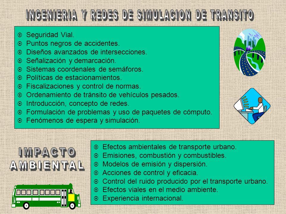 INGENIERIA Y REDES DE SIMULACION DE TRANSITO