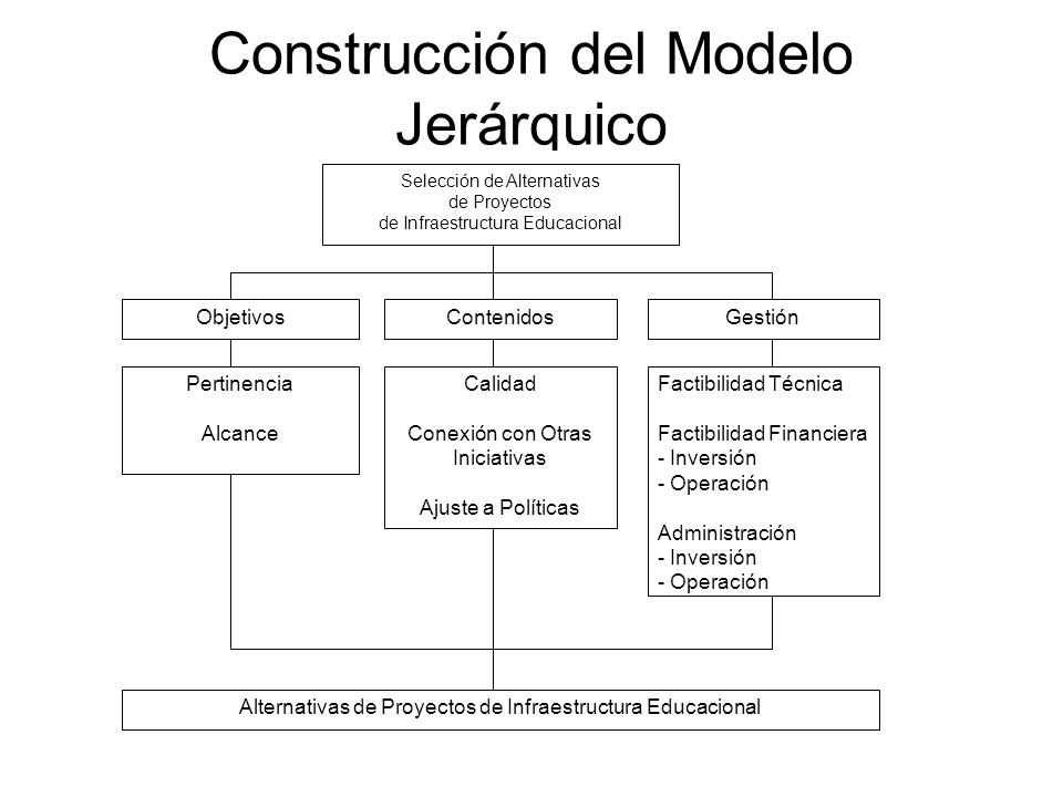 Construcción del Modelo Jerárquico
