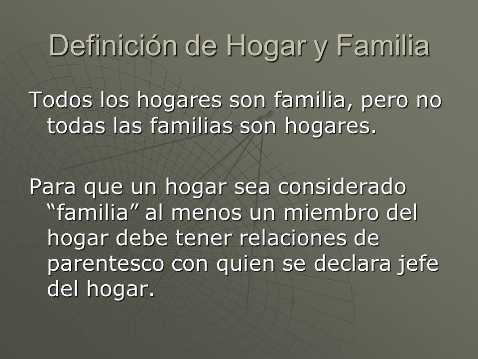 Definición de Hogar y Familia
