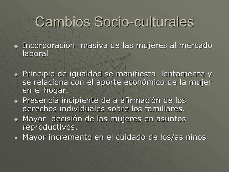 Cambios Socio-culturales