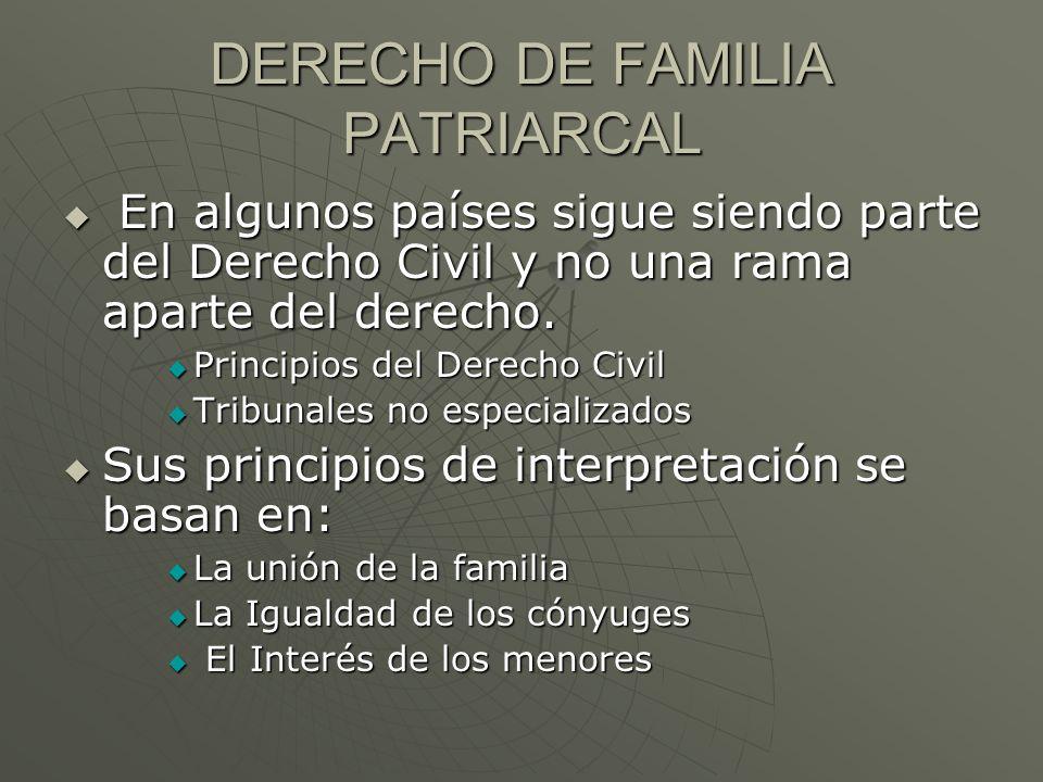 DERECHO DE FAMILIA PATRIARCAL