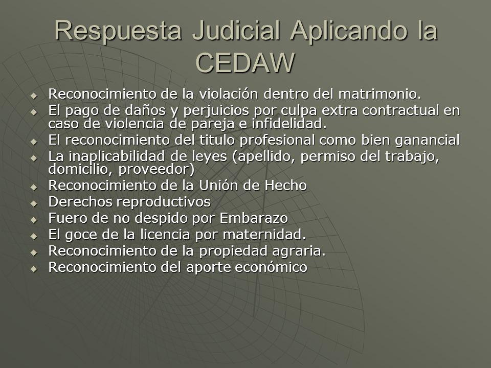 Respuesta Judicial Aplicando la CEDAW