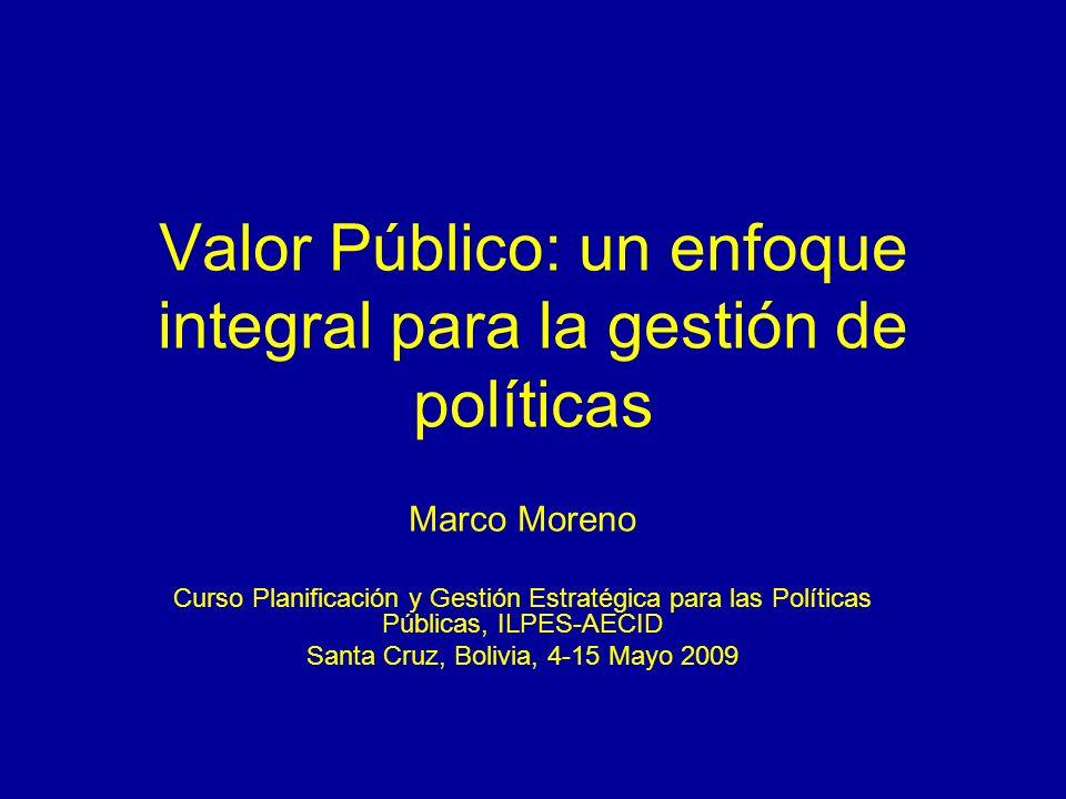 Valor Público: un enfoque integral para la gestión de políticas
