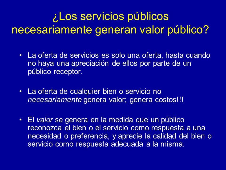 ¿Los servicios públicos necesariamente generan valor público