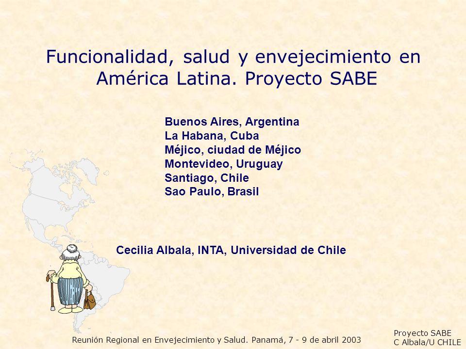 Funcionalidad, salud y envejecimiento en América Latina. Proyecto SABE