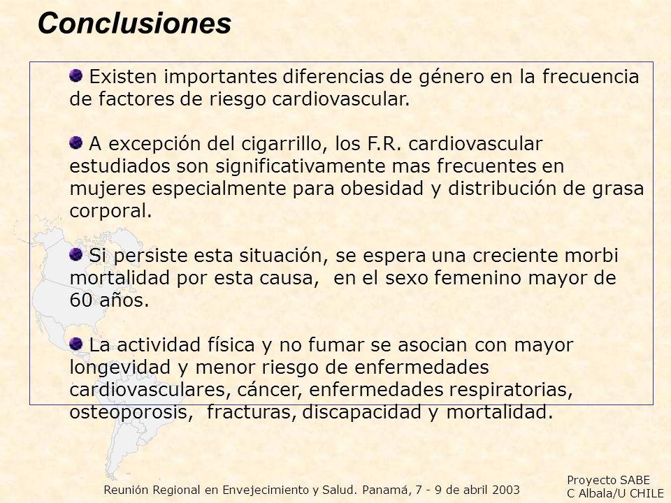 Conclusiones Existen importantes diferencias de género en la frecuencia de factores de riesgo cardiovascular.
