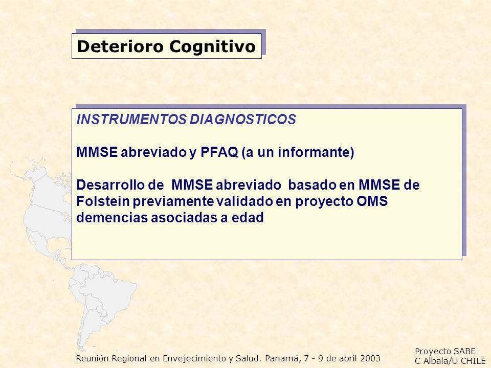 Deterioro Cognitivo INSTRUMENTOS DIAGNOSTICOS