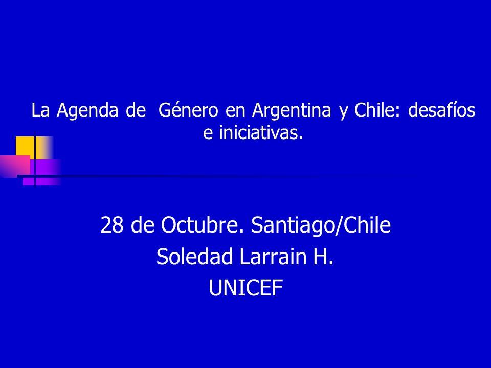 La Agenda de Género en Argentina y Chile: desafíos e iniciativas.