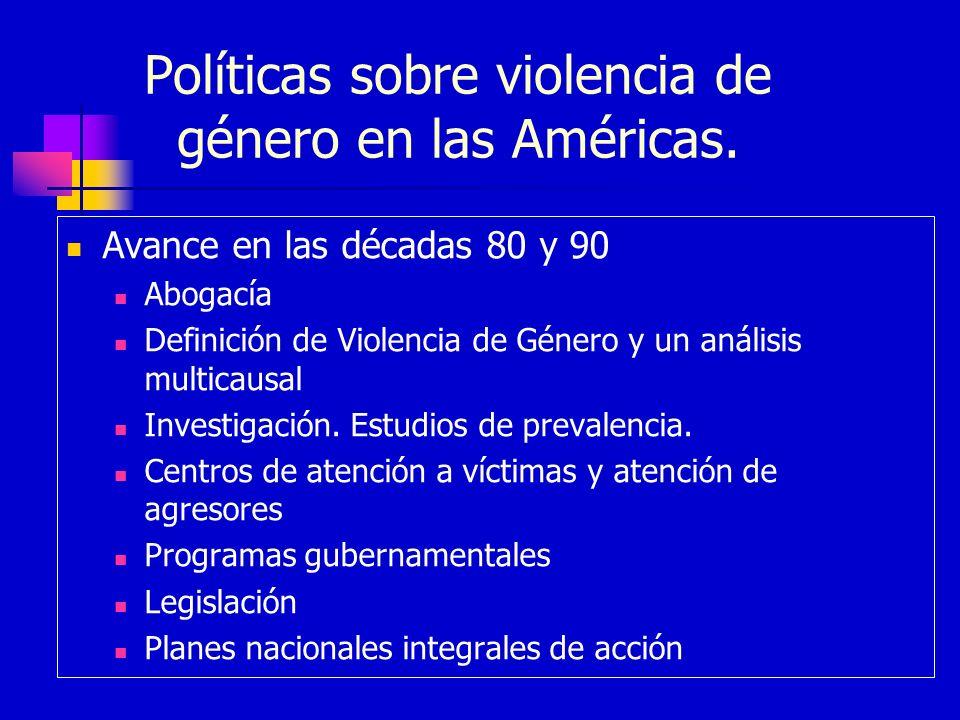 Políticas sobre violencia de género en las Américas.