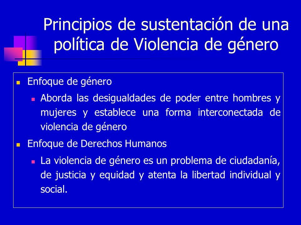 Principios de sustentación de una política de Violencia de género