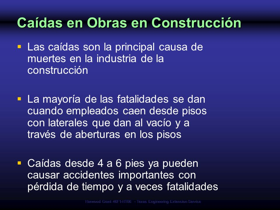 Caídas en Obras en Construcción