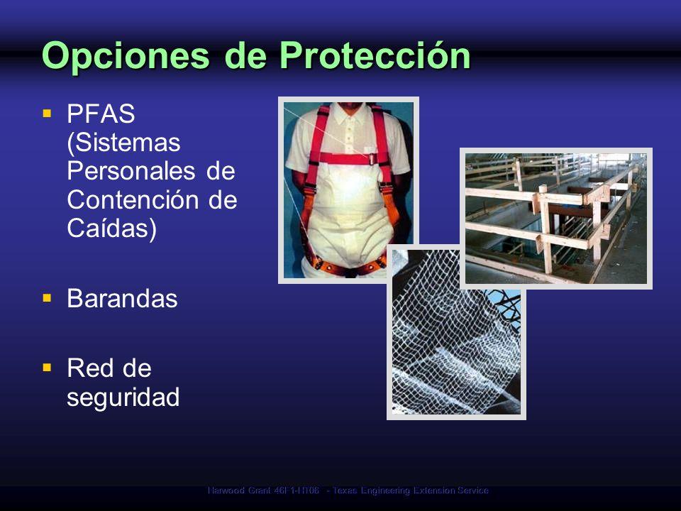 Opciones de Protección