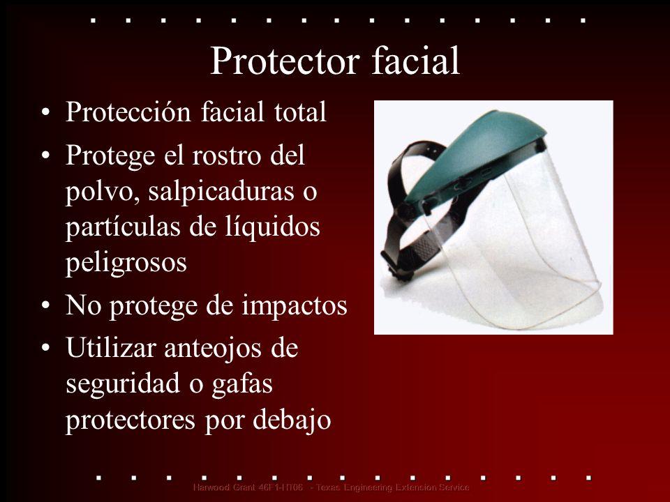 Protector facial Protección facial total