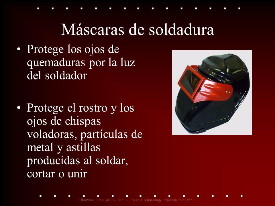 Máscaras de soldadura Protege los ojos de quemaduras por la luz del soldador.