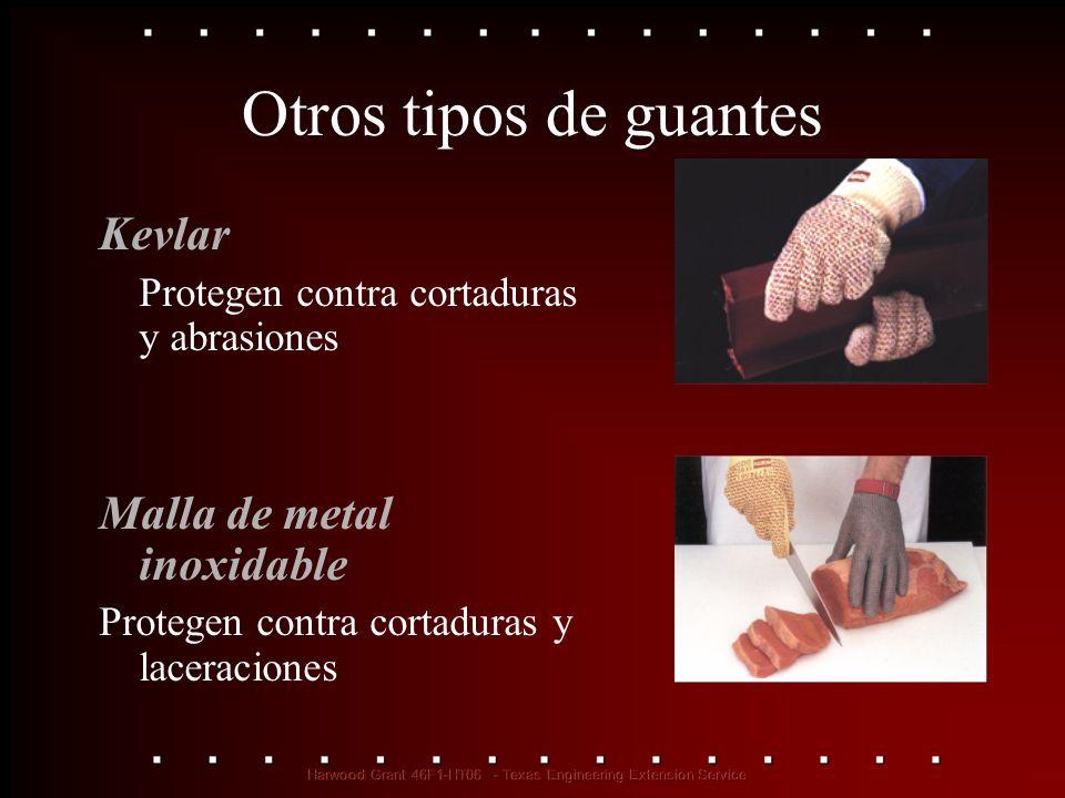 Otros tipos de guantes Kevlar Malla de metal inoxidable