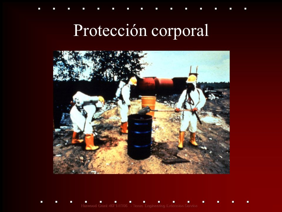 Protección corporal See OSHA Publication 3151, Assessing the Need for Personal Protective Equipment: A Guide for Small Business Employers.