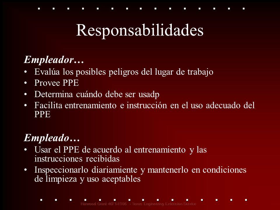Responsabilidades Empleador… Empleado…