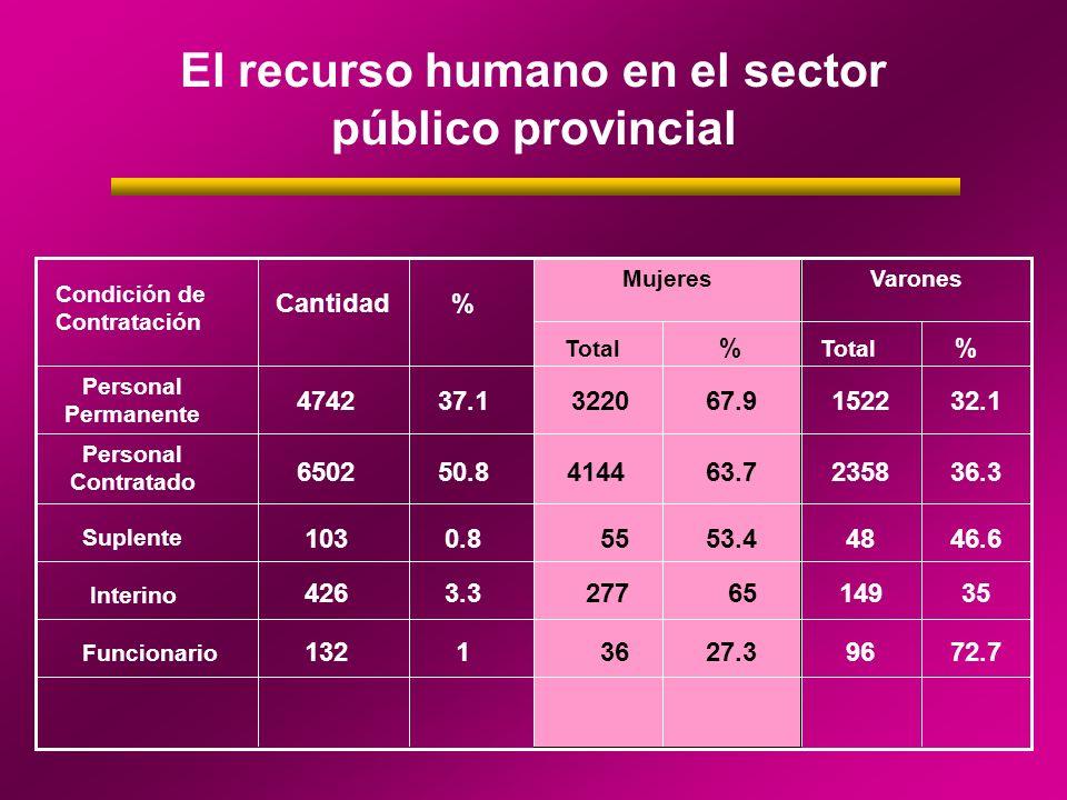 El recurso humano en el sector público provincial