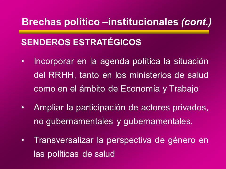 Brechas político –institucionales (cont.)