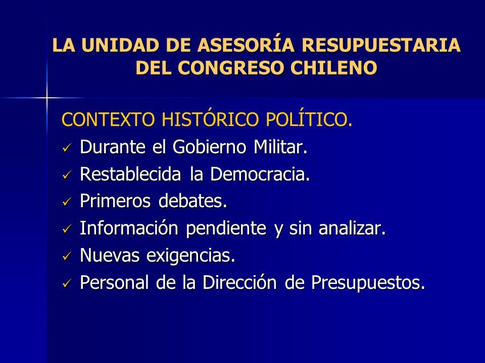 LA UNIDAD DE ASESORÍA RESUPUESTARIA DEL CONGRESO CHILENO