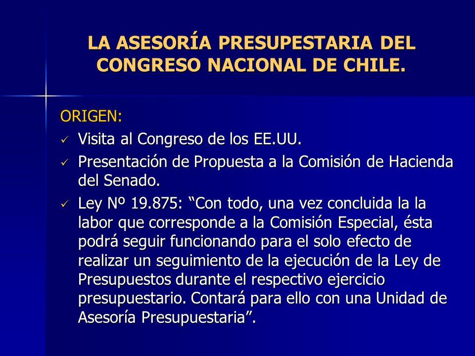 LA ASESORÍA PRESUPESTARIA DEL CONGRESO NACIONAL DE CHILE.