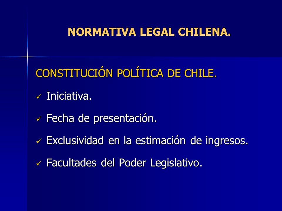 NORMATIVA LEGAL CHILENA.