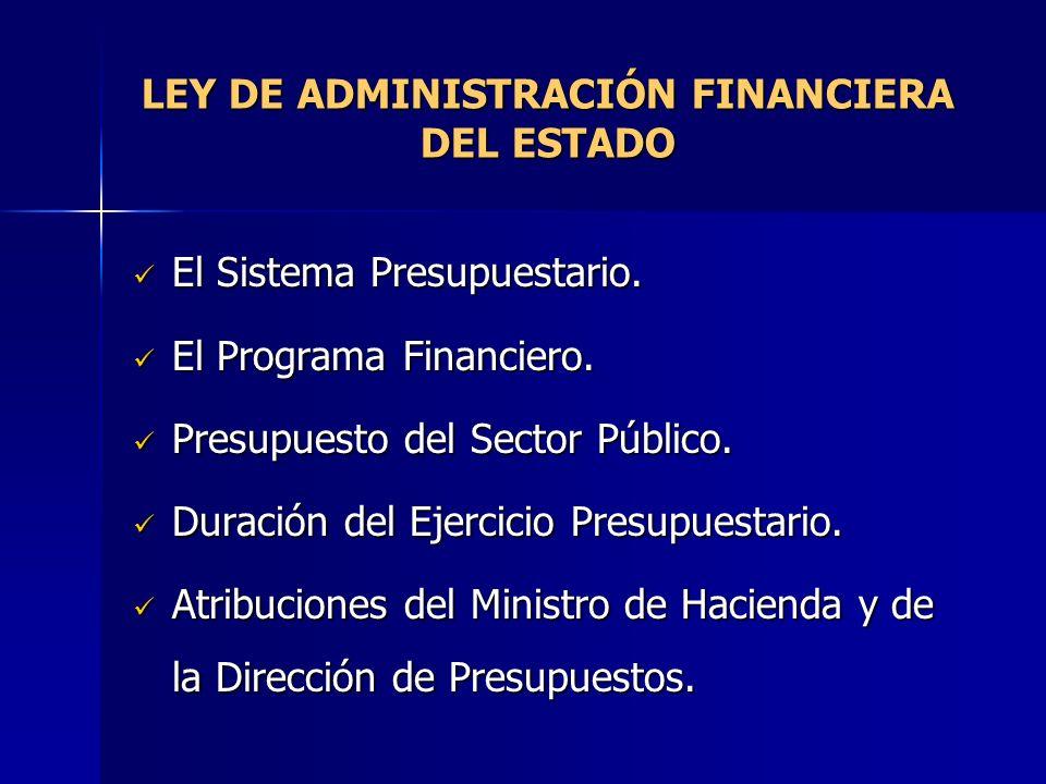 LEY DE ADMINISTRACIÓN FINANCIERA DEL ESTADO