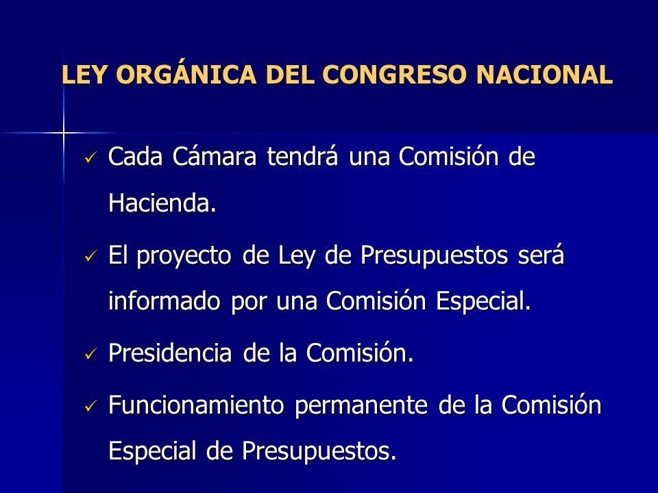 LEY ORGÁNICA DEL CONGRESO NACIONAL