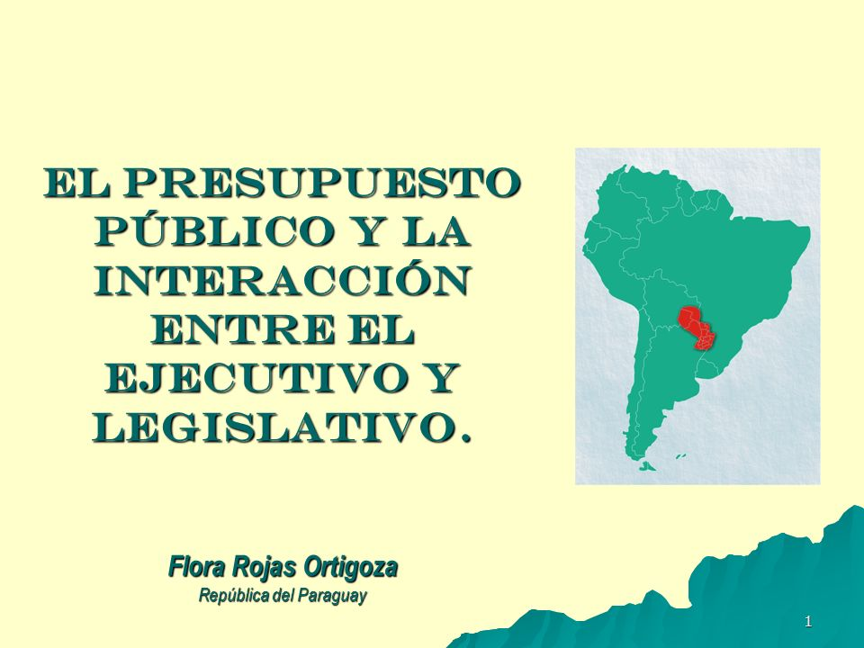 EL PRESUPUESTO PÚBLICO Y LA INTERACCIÓN ENTRE EL EJECUTIVO Y LEGISLATIVO.