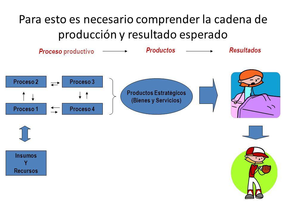 Productos Estratégicos