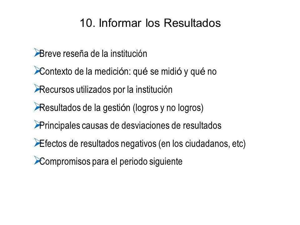 10. Informar los Resultados