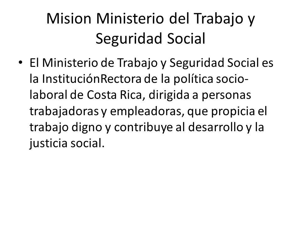 Mision Ministerio del Trabajo y Seguridad Social