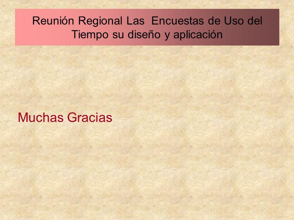 Reunión Regional Las Encuestas de Uso del Tiempo su diseño y aplicación