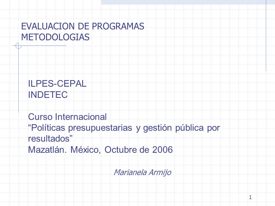 EVALUACION DE PROGRAMAS METODOLOGIAS