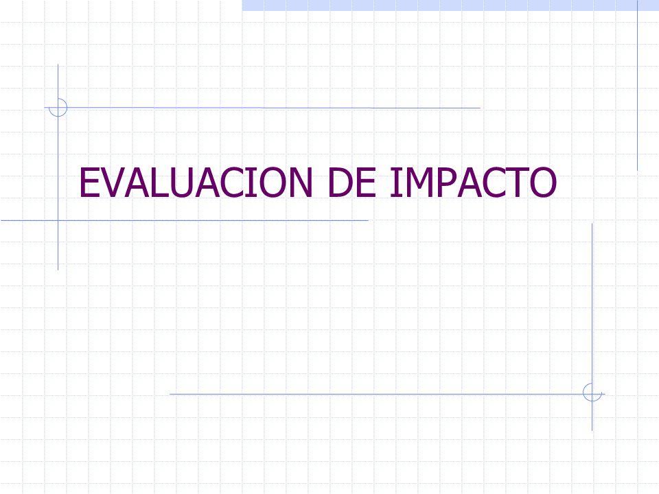 EVALUACION DE IMPACTO