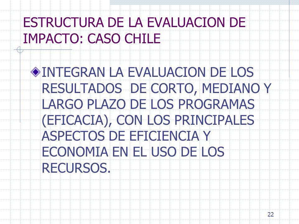 ESTRUCTURA DE LA EVALUACION DE IMPACTO: CASO CHILE