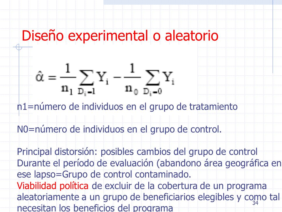Diseño experimental o aleatorio